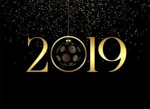 vector-premium-happy-new-year-2019-background